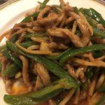 定番中華料理、青椒肉絲(青椒肉丝,チンジャオロース)