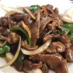 蚝油牛肉(ハオユーニューロウ,牛肉のオイスターソース炒め)